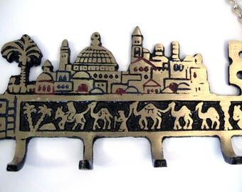 Wall key holder,1970's Holyland camel jerusalem souvenir