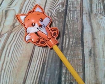 Fox - Woodland Creatures -  Feltie Pencil Toppers Design - DIGITAL Embroidery DESIGN