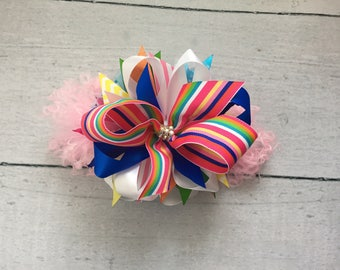 Preppy stripes bow