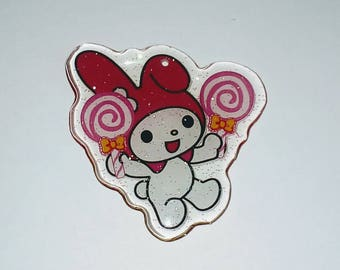 X 1 Baby cat kawaii plexiglass 40mm