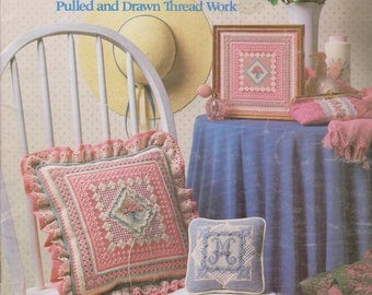 Needlepoint book Fancy Threads by Candy Kirby Leisure Arts 311 Beginners and Advanced Pulled Drawn Thread