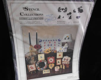 Stencils Stencil Collections Teddy and Friends Barbie Beck Precut Mylar Sheets