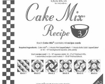 Cake Mix Recipe #3 - Quilt Pattern - Layer Cake Friendly - Miss Rosie's Quilt Company