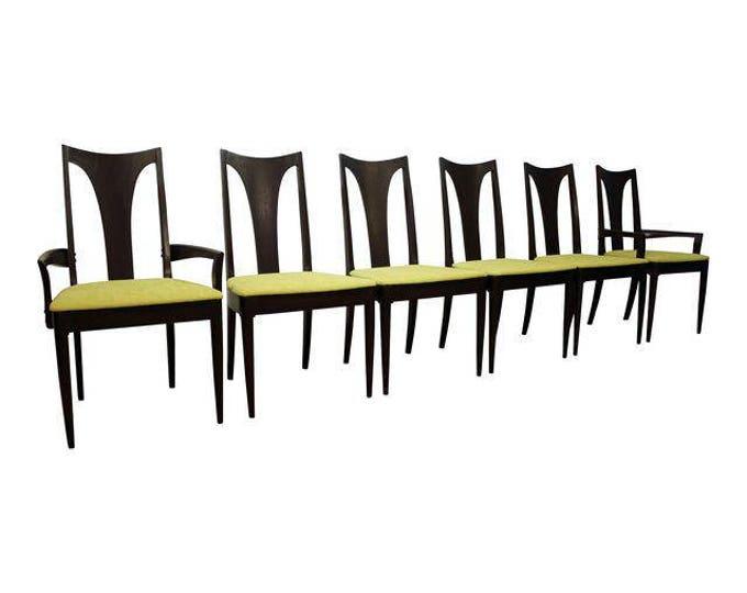 Set of 6 Mid-Century Danish Modern Brasilia Dark Walnut Dining Chairs #5
