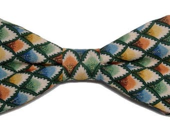 Bowtie multicolored Argyle with straight edges