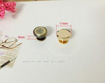 10 Sets 11x5mm Brushed brass Light golden zinc alloy screws rivets Chicago screw/ Concho screw