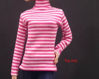 Top for Barbie,Muse barbie,Tall barbie, FR, Silkstone -No. 180115-8