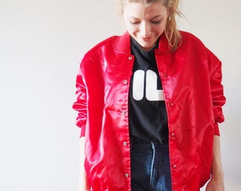 Vintage bright red bomber-90's