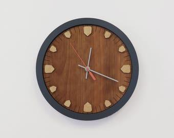 Wood Clock - Handmade Clock - Wood Wall Clock - Modern Clock - Mid Century Inspired