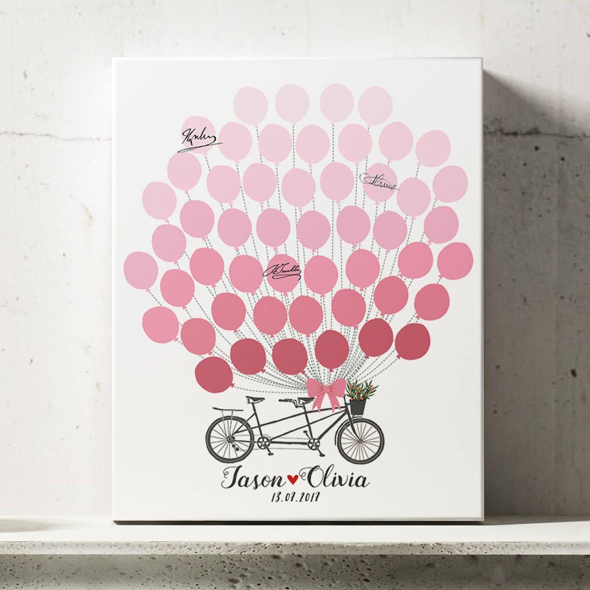 Wedding Guestbook Alternative, Bicycle Wedding Guest Book ...