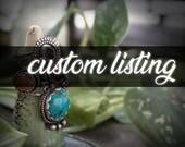 Custom Black Moonstone Crescent Ring for Emily