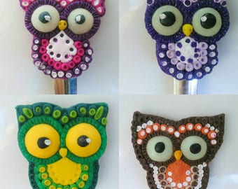 Owl, spoon with owl, sweet owl, funny owls, spoon with decoration