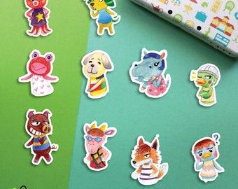 Choose   Animal Crossing Villagers #6 stickers   Octavian Biskit Puddles Daisy Bertha Scoot Rasher Velma Chief Pate