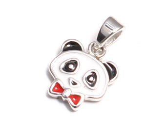 Panda pendant in 925 sterling silver