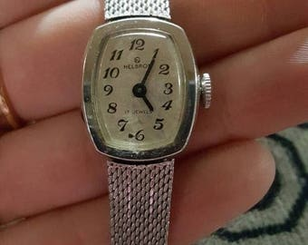 20% off Vintage Helbros 17 jewels ladies watch, silver tone adjustable watch band