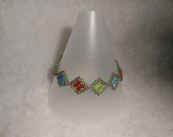 Multiple coloured bracelet