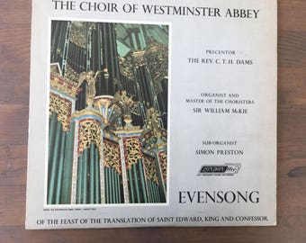 The Choir of Westminster Abbey - Evensong of the Feast of the Translation of Saint Edward, King and Confessor - viny record