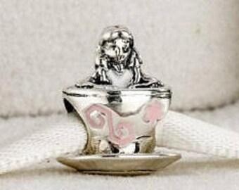 Pandora Sterling Silver Disney Alice In Wonderland Teacup Charm