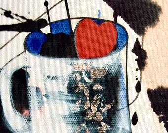 COFFEEHEART #21, 2010, gicleé print on canvas, framed