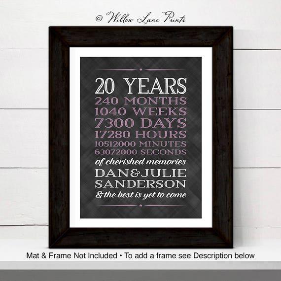 20th anniversary gift for men, women, 20th wedding anniversary gifts ...