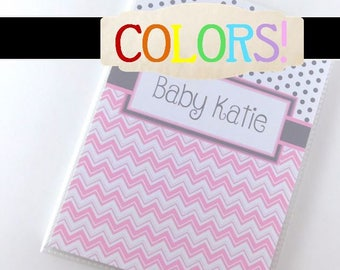 Girl Photo Album Baby Pregnancy Personalized Shower Mothers Day Gift Boy Girl sonogram ultrasound Grandmas Brag Book chevron 4x6 or 5x7 052