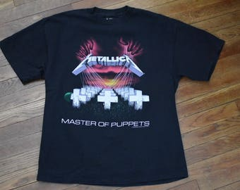 Sz L Vintage Metallica Master of Puppets Shirt