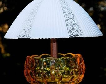 40% OFF SALE Glass bird feeders - hanging garden art - garden bird feeder