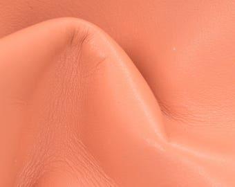 "Trippy Tangerine Cream Leather Cow Hide 4"" x 6"" Pre-cut 3 1/2 oz TA-59766 (Sec. 3,Shelf 6,C,Box 2)"