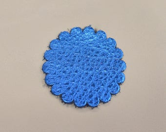 """12 pack - Electric Blue Oasis """"Vegas Collection"""" Leather Concho Rosette 1 3/4"""" TA-59964 (Sec 1, Shelf 2,A)"""