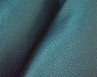 "Metallic Believer's Blue Leather Cow Hide 12"" x 12"" Pre-cut 4-5 oz pebble grain DE-66253 (Sec. 5,Shelf 4,B)"