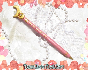 Made to Order - Sailor Moon Inspired Moonstick Writing Pen 2 Styles Choose One Refillable Rainbow Pen Kawaii Sweet Lolita