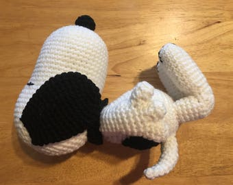 Snoopy - crocheted, stuffed