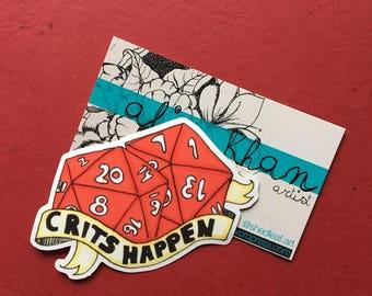 Dungeons and Dragons Sticker, Laptop Sticker, Dice Sticker