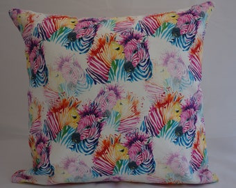 Pillow - Zebra design feature cushion, complete with cushion pad, zip fastening