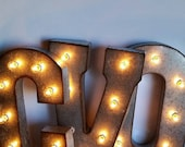 """21"""" EJ Distressed Metal Marquee Letters"""