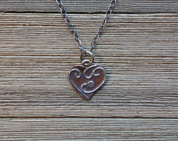 Featured listing image: Whimsical Heart Valentine Necklace