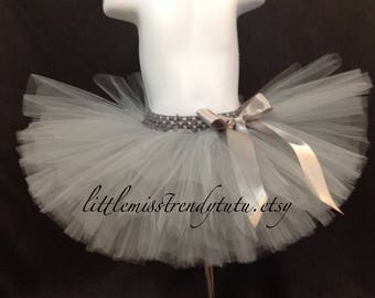 Silver Tutu Skirt, Girls Silver Tutu, Silver Tutu, Birthday Tutu, Toddler Tutu, Girls Silver Tutu, Toddler Tutu Silver, Silver Tutu Skirt
