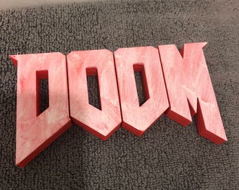 DOOM Video Game Shelf Display - High Quality Custom Made - FPS