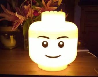 Lego Minifigure Head Bedside Lamp