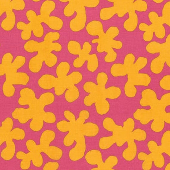 SQUIGGLE Mauve Yellow Pink ARTISAN Kaffe Fassett Sold in 1/2 yd increments
