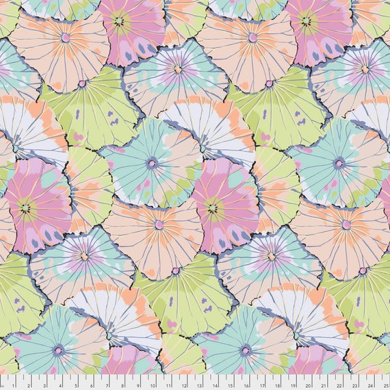Pre-Order LOTUS LEAF Contrast Pastel Kaffe Fassett PWGP029.CONTR Sold in 1/2 yd increments