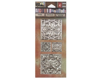 7Gypsies Architextures Findings TIN CEILING TILES Mixed Media #7g25022