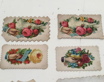6 Victorian Calling Cards