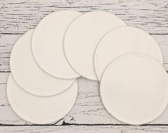 "6 (set of 3) 4.75"" Organic bamboo velour nursing pads,with hemp fleece/overnight nursing pads/waterproof nursing pads/bamboo nursing pads"