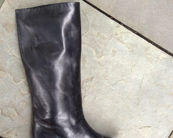 80s buttery soft ROBERTO VIANNI for neiman marcus Black tall riding boots size 7.5