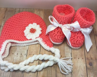 Hat and Booties Set for Baby