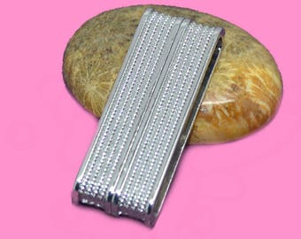 magnetic clasp for cuff 38 x 14 x 7 mm silver