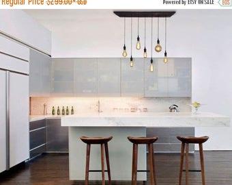 FLASH SALE 7 Pendant Industrial Chandelier - Kitchen Lighting, Restaurant Lighting, Designer lighting