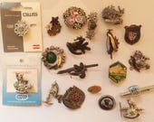 Vintage Real Austrian/ Bavarian / Alpine Hunting Hat Pin/ Brooch Collection