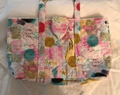 Handmade Quilted Pop Tote Bag